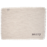 Merry Beige Fringed Placemat