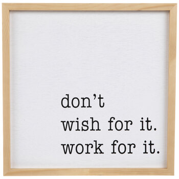 Work For It Wood Wall Decor