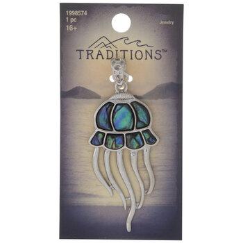 Abalone Jellyfish Pendant