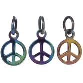 Rainbow Peace Sign Charms