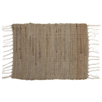 Brown Woven Fringe Placemat
