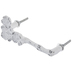 Distressed White Flower Metal Pull
