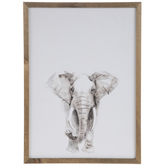 Elephant Wood Wall Decor
