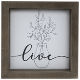 Live Botanical Tile Metal Wall Decor