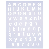 Basic Block Alphabet Stencil