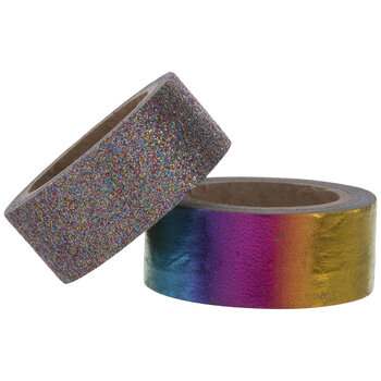 Rainbow Foil & Glitter Washi Tape