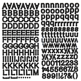 Black Dot Alphabet Stickers
