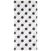 White & Black Polka Dot Tissue Paper