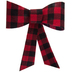 Red & Black Buffalo Check Bow