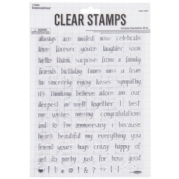 Everyday Expressions Clear Stamps