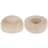 "Wood Axel Dowel Caps With 1/4"" Hole - 9/16"""
