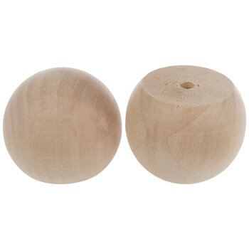 """Wood Ball Knobs With 3/16"""" Hole"""