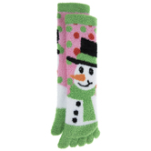 Snowman Fuzzy Toe Socks
