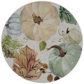 Green, Cream & Blue Pumpkin Plate