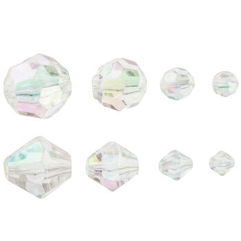 Crystal AB Acrylic Bead Mix