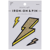 Lightning Bolt Iron-On Appliques