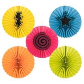 Glow Party Paper Fans