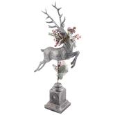 Silver Reindeer Pedestal