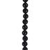 Black Dyed Banded Onyx Bead Strand