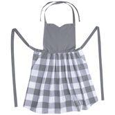 Gray & White Buffalo Check Apron
