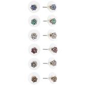 Flower Rhinestone Cluster Earrings