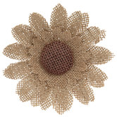 Burlap Sunflower Napkin Ring