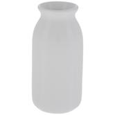 White Round Vase