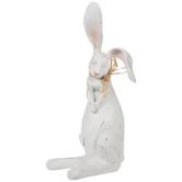 White Distressed Bashful Bunny