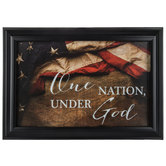 One Nation Under God Framed Wall Decor