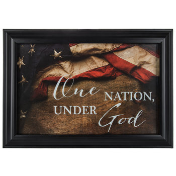 One Nation Under God Framed Wall Decor