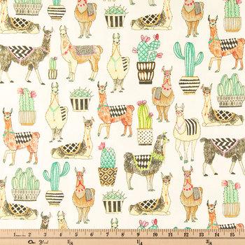Lovely Llamas Duck Cloth Fabric