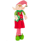 Standing Elf With Gift