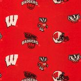 Wisconsin Allover Collegiate Fleece Fabric