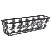 Black Plaid Metal Wall Basket