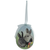 Bunnies Egg Ornament
