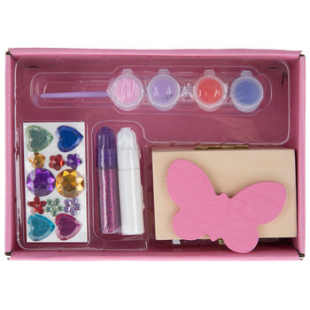 Decorate-Your-Own Wood Butterfly Chest Kit