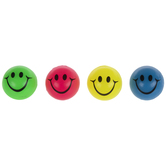 Neon Smiley Face Bouncy Balls