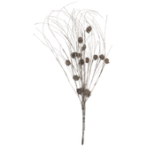 Flocked Pinecone Bush