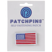 American Flag Patch Pin