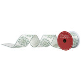 """Merry & Bright Wreath Wired Edge Ribbon - 2 1/2"""""""