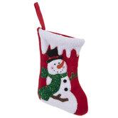 Mini Red Snowman Stocking