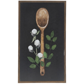 Floral Spoon Wood Wall Decor
