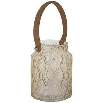 Amber Trellis Glass Vase