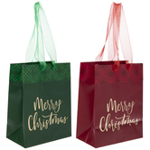 Red & Green Merry Christmas Gift Bags