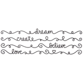 Black Inspiration Glitter Border Stickers