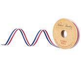 """Red, White & Blue Striped Grosgrain Ribbon - 3/8"""""""