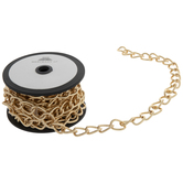 Gold Oval Extension Chain Trim
