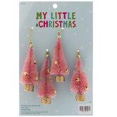 Mini Pink Sisal Tree Ornaments