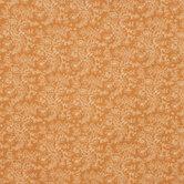 Rust Orange Floral Cotton Calico Fabric