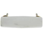 White Beveled Marble Pull
